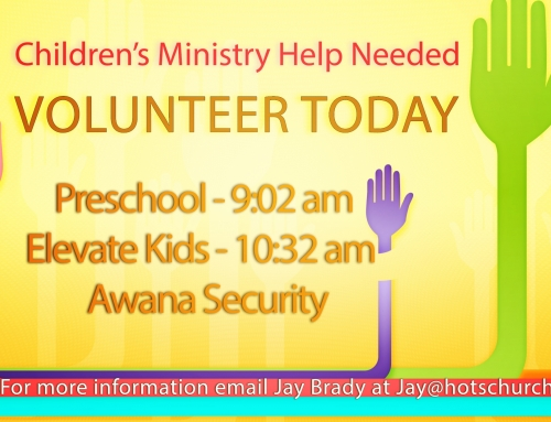 Children's Ministry Help Needed