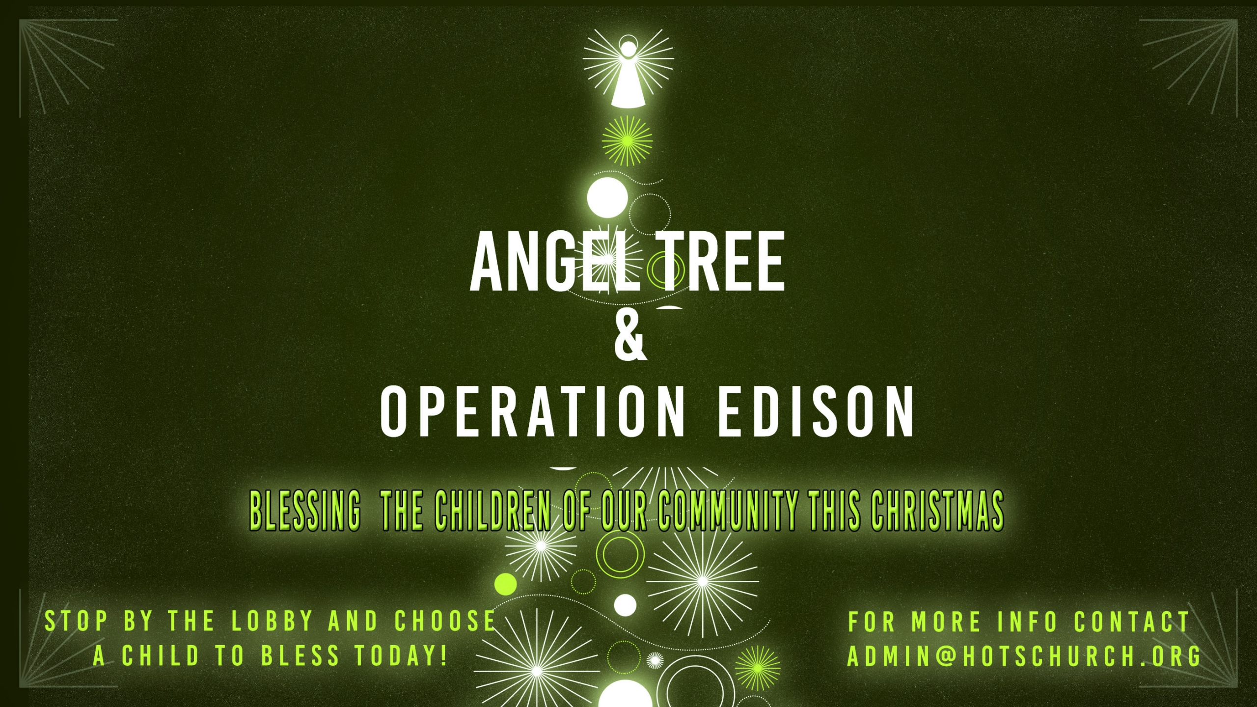 Angel Tree & Operation Edison